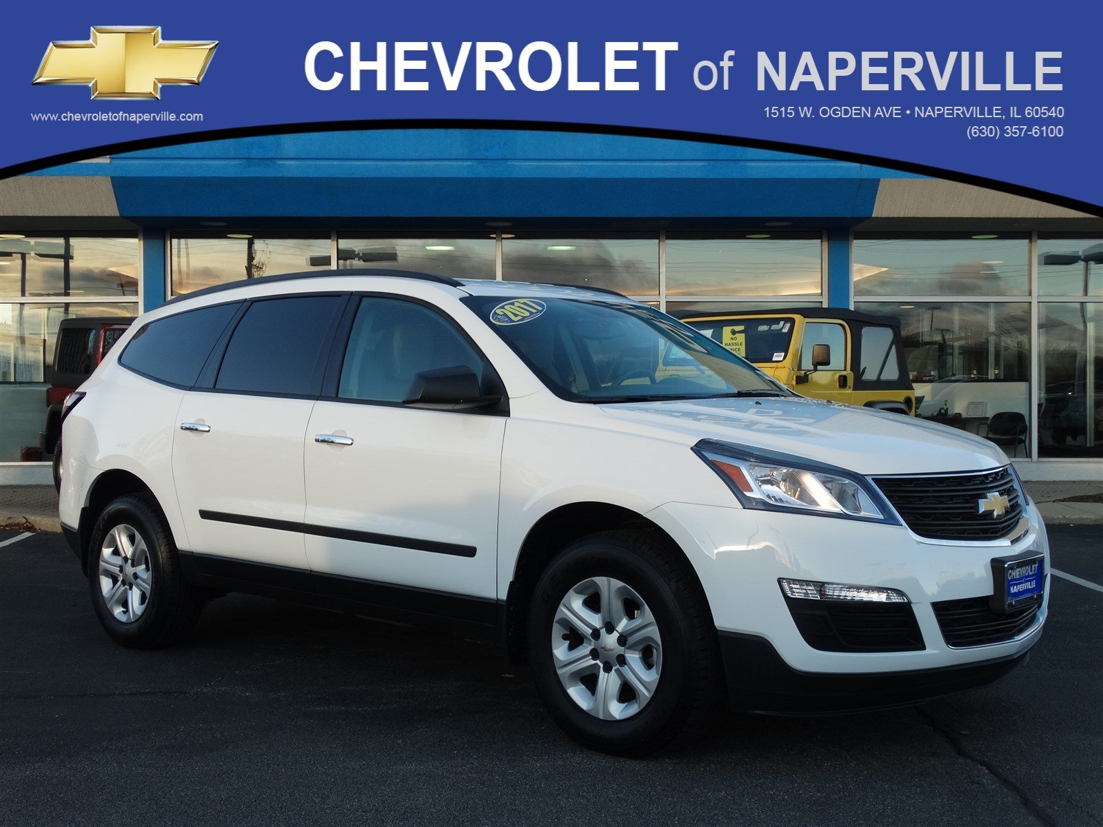 pre owned 2017 chevrolet traverse ls sport utility in naperville l0715 chevrolet of naperville. Black Bedroom Furniture Sets. Home Design Ideas